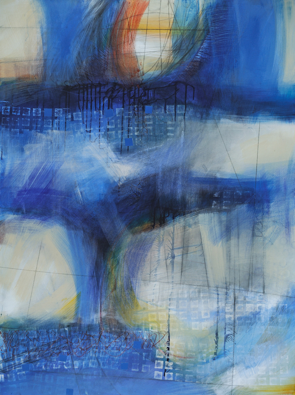 Abstraction #1518, Mixed Media on Canvas, 48 x 36