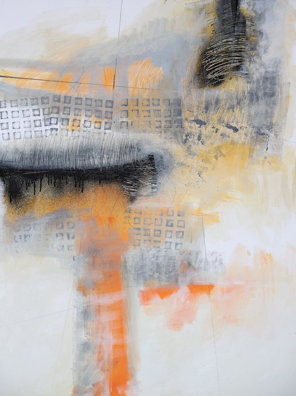 Abstraction #1918, Mixed Media on Canvas, 48 x 36