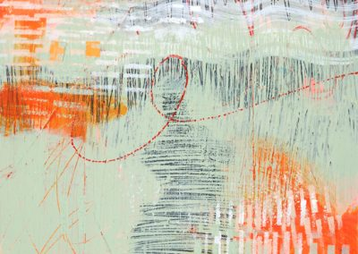 Abstraction #1519, Acrylic on Watercolor Paper, 5, sold 1/2 x 7 1/2