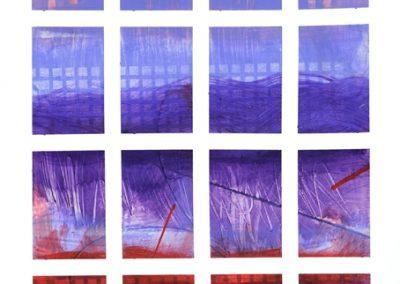 Grid-2319, Acrylic on Paper, 21 x 10