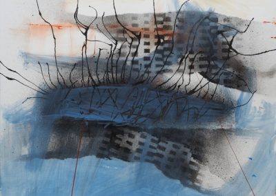 Abstract_4617, mixed media on paper, sold