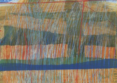 Abstraction_5917, Acrylic on Paper, Sold