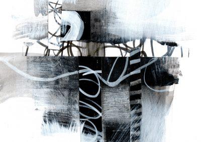 Black, White, Gray Series #2520, 8.5.x 8.5