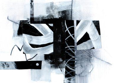 Black, White, Gray Series #2720, 8.5.x 8.5
