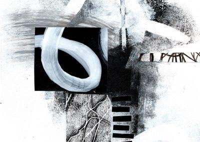 Black, White, Gray Series #2820, 8.5.x 8.5