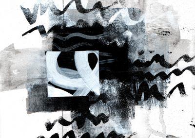 Black, White, Gray Series #4420, 8.5.x 8.5