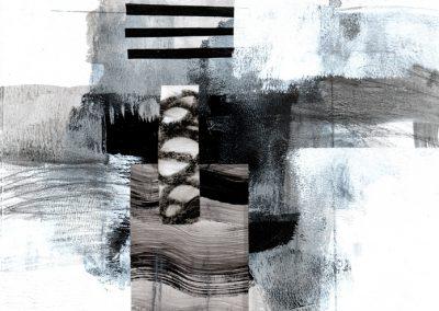 Black, White, Gray Series #4520, 8.5.x 8.5
