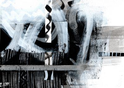 Black, White, Gray Series #4620, 8.5.x 8.5