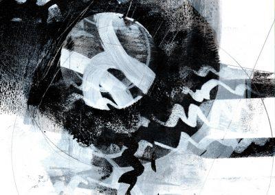 Black, White, Gray Series #4720, 8.5.x 8.5