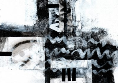 Black, White, Gray Series #4820, 8.5.x 8.5