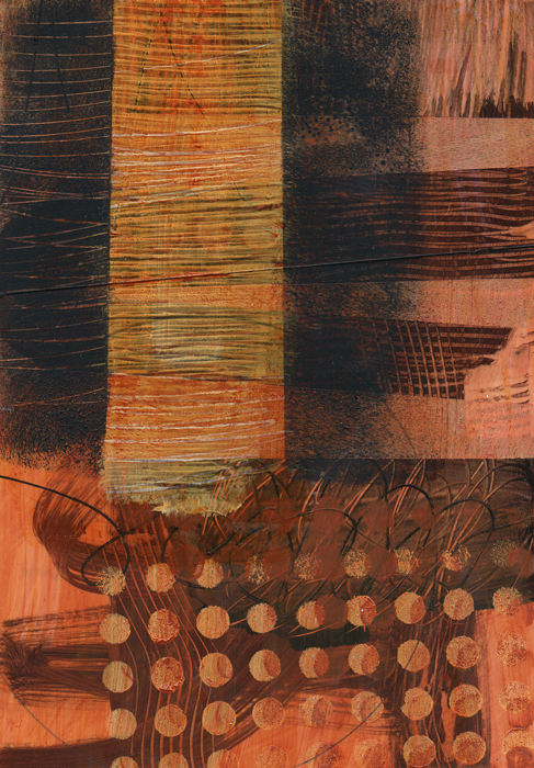 Abstraction #5419 Mixed Media on Bristol Paper, 10.5 x 7.5 in