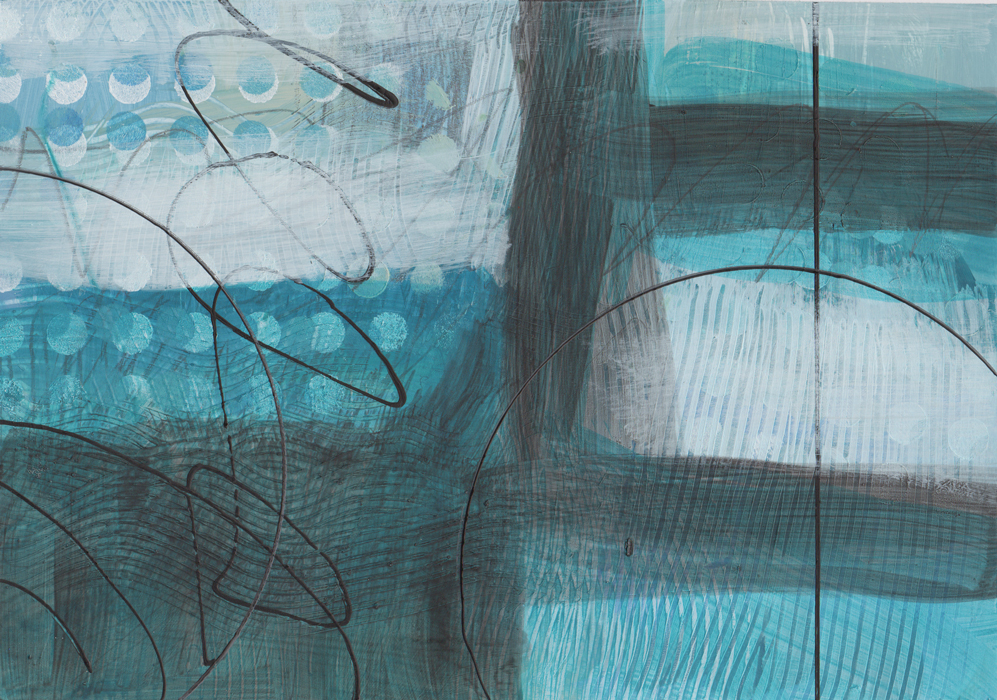Abstraction #5719 Mixed Media on Bristol Paper, 10.5 x 7.5 in