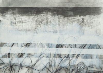 #7720 Black, White, Gray Series 2 Mixed Media Acrylic, Graphite, Watercolor crayon, Watercolor on paper