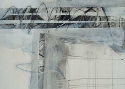Black, White, Gray Series 2 #8220 Mixed Media Acrylic, Graphite, Watercolor crayon, Watercolor on paper