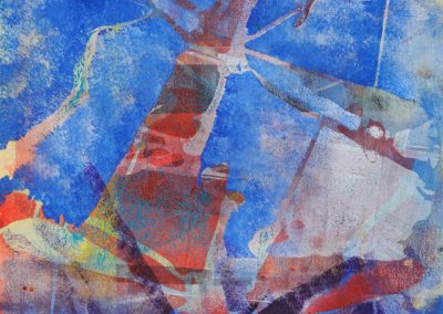 Gel Plate Monotype created by Virginia Bledsoe