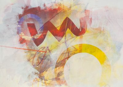 """Mixed Media by Virginia Bledsoe titled """"Cluster #1"""""""