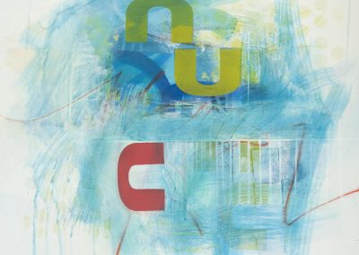 """Mixed Media by Virginia Bledsoe titled """"Cluster #2"""