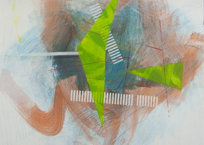 Mixed Media by Virginia Bledsoe titled Cluster Series 2- #8